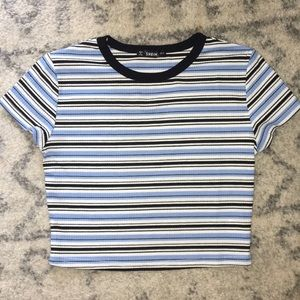 New!! Striped Cropped Top